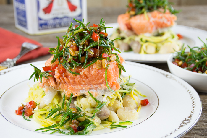 Salmon With Agretti Salsa