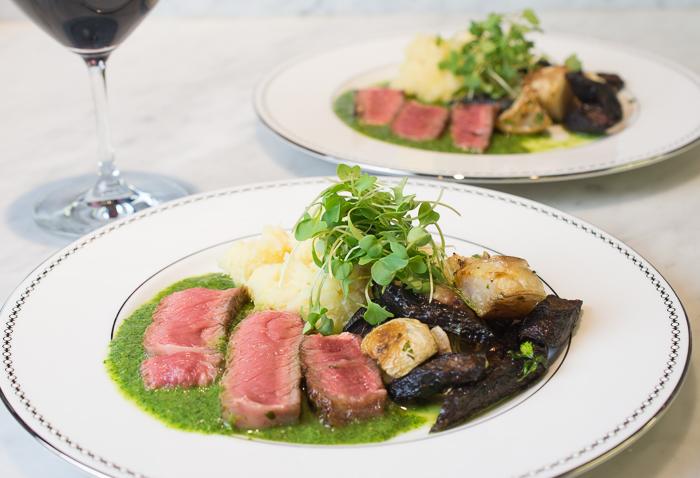 Steak, Watercress Sauce, & Root Vegetables
